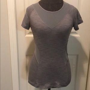 Lululemon gray mesh workout shirt. Size 6?